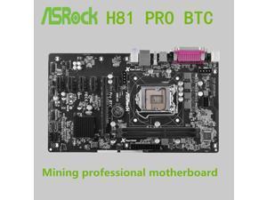 motherboard for ASRock H81 Pro BTC LGA 1150 DDR3 16GB for 22nm USB3.0 H81 Desktop motherborad