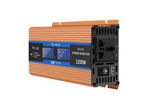 Car Power Inverter 1200W USB Charge Watt DC 12V Peak Power Inverter Voltage Convertor Transformer LCD Display