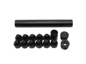 15Pcs 5/8-24 Aluminum Fuel Trap Solvent Filter for NAPA 4003 WIX 24003 Filters Black,Gray