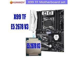HUANANZHI X99 TF x99 motherboard set with Xeon E5 2678 V3 LGA2011-3 motherboard DDR3 DDR4 ECC REG memory