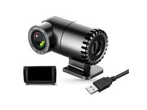 1080P HD Webcam , Desktop Laptop Computer Webcam with USB & Built in Noise Reduction Microphone, 360° Rotation Webcam