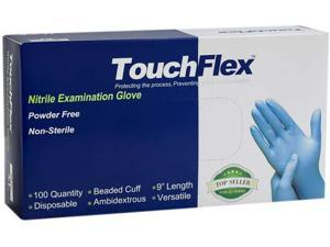 TouchFlex Nitrile Exam Gloves, Medical Grade, Disposable, Food Safe, Non Latex, 4 mil Thickness,Powder Free, Blue Color, 100pcs/Box, Local seller