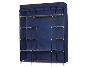 5 Layer 12 Compartment Fabric Wardrobe Portable Closet Cabinet Storage Standing
