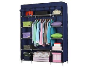 5 Layer 12 Compartment Fabric Wardrobe Portable Closet Cabinet Storage Standing