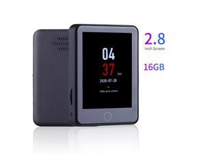 Portable High Definition Digital Sound Voice Recorder MP3 Music Player with 2.8 Inch Touchscreen Built-in Speaker Support Picture Browsing/Video Playing/eBook Reading 28 Languages 16GB Capacity for Le