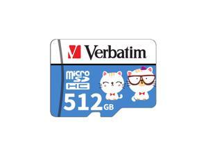 Verbatim Micro SD Card Class10 TF Card 128GB/256GB/512GB Memory Card for Smart Phone Tablet PC Car Recorder (Adapter Not Include)