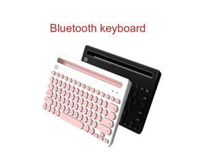 FUDE IK3381 Wireless Keyboard Bluetooth Connect Three Device Easy To Switch for iPhone12 mini/iPad/Pro Max Computer Laptop Desktop PC Notebook All-In-One Pad Handphone Multiple System Compatibility