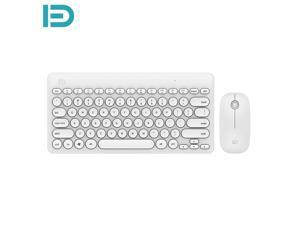 FUDE IK6620 Wireless Keyboard Mouse Combos Curved Keys 0.94in Thin Long Standby Time 2.4GHz Connection For Computer Laptop Desktop PC Notebook All-In-One Multiple System Compatibility