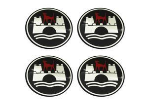 4 x 65mm WOLFSBURG EDITION Car Wheel Center Hub Cap Badge Emblem Decal Stickers for Volkswagen
