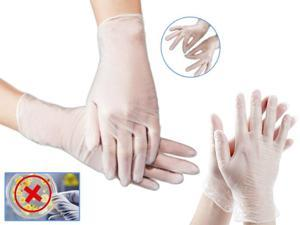 Small Size 100 Pcs Disposable Gloves PVC Vinyl Nitrile Gloves Powder-Free Latex-Free Use for Medical Dental Checks Kitchen Cooking Baking Garden Cleaning Safety Food Handling Salon Laboratory Test