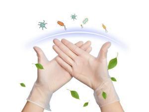 Large Size 100 Pcs Disposable Gloves PVC Vinyl Nitrile Gloves Transparent Powder-Free Latex-Free Use for Medical Dental Checks Kitchen Cooking Baking Garden Pet Cleaning Safety Food Handling Salon