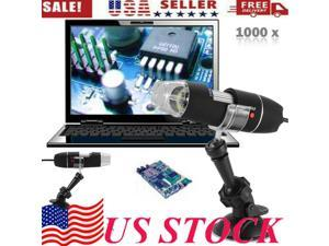 HD 40 to 1000x Magnification Endoscope 8 LED USB 2.0 Digital Portable Handheld Electron Microscope Magnifier Mini Camera Video with Metal Stand For Mac /Windows/Android with OTG/Linux Phone/Tablet PC