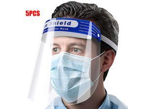 5PCS Safety Shield Protector Eyes And Face Full Clear Transparent Head Band Elastic Reusable Windproof Dustproof Cap