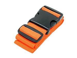 Luggage Strap Suitcase Straps Travel Belts Accessories Strong Extra Safety Suitcase Adjustable Belt With Wide Clip Buckle, Orange