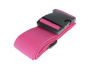 Luggage Strap Suitcase Straps Travel Belts Accessories Strong Extra Safety Suitcase Adjustable Belt With Wide Clip Buckle, Pink