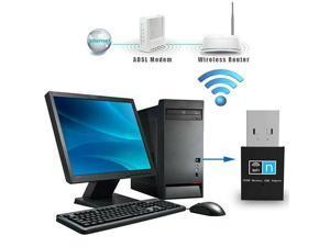 300Mbps USB WiFi Dongle 802.11 B/G/N Wireless Network Adapter Plug&Play for Desktop Laptop Computer PC
