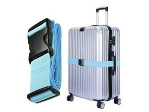 Luggage Strap Suitcase Straps Travel Belts Accessories Strong Extra Safety Suitcase Adjustable Belt With Wide Clip Buckle, Blue
