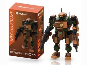 MyBuild Mecha Frame Sergeant 5011 Mech Suit Robot Blocks Cabin Fit for a Minifig Great Articulation Action Figure 5 inches Height Bricks Building Toy Compatible with other Major Brands