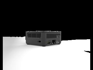 ECS Elitegroup LIVA Q1D Mini PC, Intel N3350, 4GB DDR4L Memory/ 64GB eMMC - USB3.2, Gigabit LAN, HDMI & Display Port, WiFi &  Bluetooth 4.1, MicroSD up to 128GB, 7x7cm, Windows 10 Pro installed, Black
