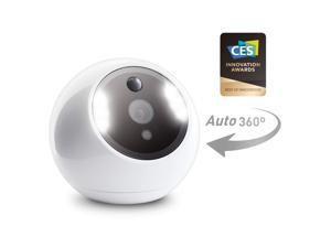 Amaryllo Apollo: 360° Wireless Security Camera with 256-bit Military Grade Encryption, 1080p Night Vision, PTZ, 2-Way Audio, Unlimited Cloud storage, Motion Detection, Phone App, Human voice greeting