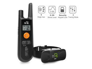 Dogcare Training Collar - Rechargeable Dog Shock Collar w/3 Training Modes, Beep, Vibration and Shock, 100% Waterproof Training Collar, Up to 1000Ft Remote Range, 0~99 Shock Levels Dog Training Set