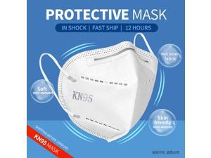 FFP2 filter KN95 N95 mask 5 layers filtering face masks anti-dust safety non-woven Earloop disposable cover mouth dust mask (20 Pcs)