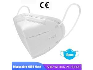 10 pcs KN95 Mask, 5-layer N95 Face Mask Anti Covid-19 Virus, Oral And Nasal Hygiene, Breathable, Dustproof, Nonwoven Fabrics, Work Mask PM2.5 Face Masks - Air Filter Dust Proof Healthy Protective Resp