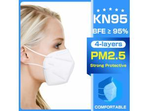 10 Pcs N95 Mask, KN95 FFP2 Face Mask Anti Covid-19 Virus, Oral And Nasal Hygiene, Breathable, Dustproof, Nonwoven Fabrics, Work Mask-Bacterial Filtration Efficiency>95%