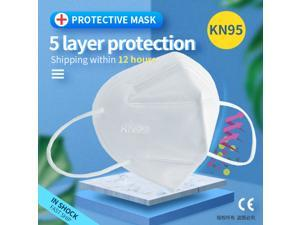 50Pcs N95 Mask Face Mask Protective Respirator, pm2.5 5-Layer KN95 Face Mask Adult Anti-fog Haze Dustproof Non-Woven Fabrics Mask-Bacterial Filtration Efficiency>95% Work face mask