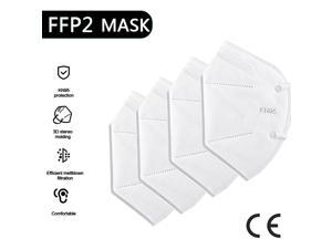 50 pcs N95 FFP2 Face Masks 5 Layers Filter Dust Mouth PM2.5 Flu Face Mask Mouth Masks Breathable 95% Personal Protection Health Care Mask Fast Shipping