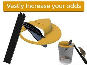 Slide Bucket Lid Mouse/Rat Trap with Ramp, Auto Reset Multi Catch for Indoor Outdoor, Compatible 5 Gallon Bucket, Mouse Trap Compatible, Auto Reset Design Balance Mouse Trap for Indoor & Outdoor