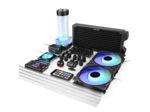 Syscooling black color PETG water cooling kit 240mm copper radiator RGB support digital display for Intel 115x LGA 2011 CPU socket