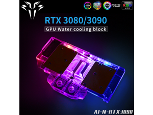 Syscooling GPU water block for NVIDIA RTX 3090 3080 Founder Edition video card water cooling with ARGB lights