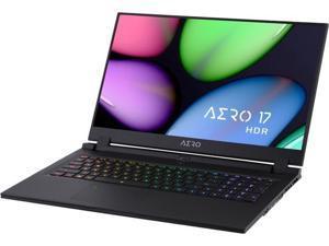 """GIGABYTE AERO 17 XB-7US1130SH, 17.3"""" Gaming Laptop, Intel Core i7-10750H, RTX 2070 Super Max-Q, 16 GB Memory, 512 GB SSD"""