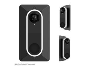 Wall Plate Come with L35°/R35 ° Wedge For Arlo Video Doorbell , Compatible With Arlo Video Doorbell Plastic Material Adjustment Mounting Wall Plate Wedge Kit, Black