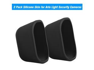 2 Pack Silicone Skin for Arlo Light Security Cameras Weatherproof UV-resistant Case , Black