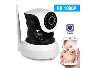 HD 1080P 2.0 Megapixels Wireless WiFi Pan Tilt Network IP Cloud Indoor Camera Baby Monitor Support PTZ TF Card Record 2-way Talk P2P Android/iOS APP IR-CUT Filter Infrared Night View Motion Detection