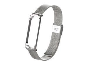 Metal Strap Wristband For Mi Band 3 4 Replacement Business Durable Metal Screwless Stainless Steel Bracelet Band For Xiaomi Mi Band 3 4