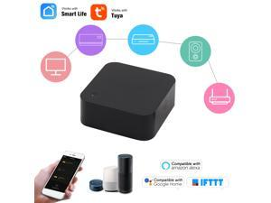 Smart WiFi IR Remote Control WiFi(2.4Ghz) Enabled Infrared Universal Remote Controller For Air Conditioner TV DVD Fan Using Tuya Smart Life APP Compatible with Alexa Google Home IFTTT Voice Control