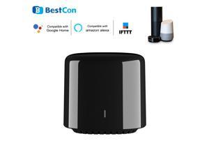 BroadLink BestCon RM4C Mini IR Black Bean Universal WIFI Remote Controller Infrared Receiver App Control Timer Compatible with Alexa Voice Control