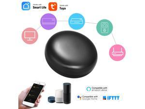 WiFi-IR Remote IR Control Hub Wi-Fi(2.4Ghz) Enabled Infrared Universal Remote Controller For Air Conditioner TV Using Tuya Smart Life APP Compatible with Alexa Google Home Voice Control