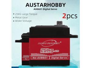 2pcs AUSTARHOBBY AX8601 Digital Servo 25KG Metal Gear High Torque Waterproof for RC Traxxas HSP Car Boat Helicopter Robot Airplane