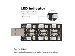 1S LiPo Battery USB Charger 1S LiHV Charger 6 Channel for LiHV 3.7V/4.35V 1S LiPo Battery