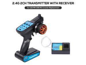 2.4G 2CH Transmitter Remote Controller with Receiver for 1/12 MN-D90 RC Crawler Car DIY Parts
