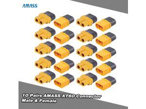 10 Pairs Original AMASS XT60 Plug Connector Male Female Set for FPV Racing Quadcopter Multirotor Airplane