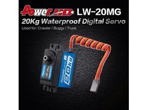 2pcs Power HD LW-20MG 20Kg Waterproof High Torque Digital Servo with Metal Gear for RC 1/10 1/8 Off-road Car Buggy Truck