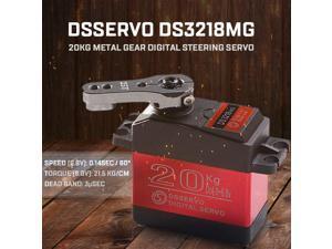 DSSERVO DS3218MG 20kg Metal Gear Digital Steering Servo for RC Baja Car Buggy Truck Boat Airplane Helicopter