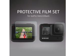 HD Tempered Glass Film Set for Go Pro HERO 8 Black Camera Lens Screen Protector Dust-proof Protective Film Sports Action Video Camera