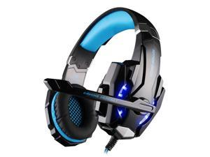 KOTION EACH G9000 3.5mm Gaming Headphone Stereo Game Headset Noise Cancellation Earphone with Mic LED Light Volume Control for PS4 Laptop Tablet Mobile Phones