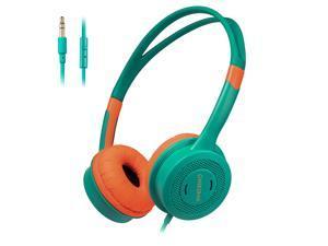 ONIKUMA M100 Kids Headphones 3.5mm Wired On Ear Headset Children Earphone Adjustable Headband w/ Microphone 85dB Limited Volume Safe for Kids